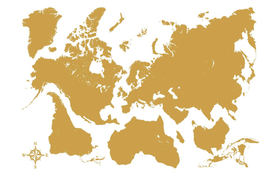 CREARREDA GOLD MAP Tatuaggio murale 442566900000 N. figura 1