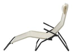 Chaise longue inclinable Lit de camp 753101400004 Couleur de l'habillage Beige Taille L: 170.0 cm x L: 65.0 cm x H: 101.0 cm Photo no. 1