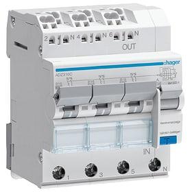 FI/LS Schalter 3-3x1PN B 16A 30mA 6ka QC/BA Fehlerstrom-Leitungsschutzschalter Hager 612169100000 Bild Nr. 1