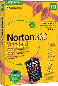 Security 360 Standard 1+1 inkl. Face Mask [PC/Mac/Android/iOS] (D/F/I) Physisch (Box) Norton 785300155731 Bild Nr. 1