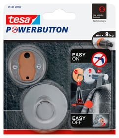 Powerbutton ganci premium acciaio Gancio adesivo Tesa 675275900000 N. figura 1