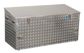 box en aluminium R883 Alu tôle gaufrée 3mm, 883 L dim. extérieure 1700 x 700 x 850 mm