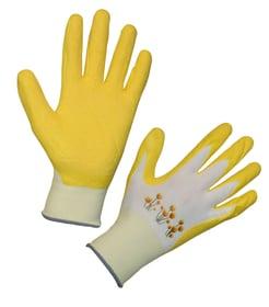Gants de jardinage jaune T 8 polyester recouvert latex