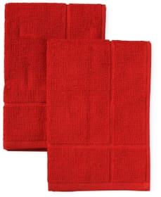 Asciugamano spugna 2pz Cucina & Tavola 700349500030 Colore Rosso Dimensioni L: 50.0 cm x A: 50.0 cm N. figura 1