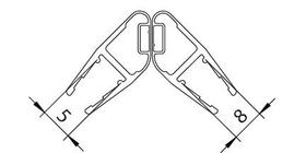 Magnetdichtprofil senkrecht  Paar 1989mm 9000010767 Bild Nr. 1