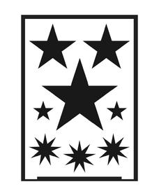KREUL Flexible Designschablone selbstklebend Stern A5 negativ C.Kreul 667215400000 Bild Nr. 1