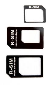 Adaptateur Nano+Micro SIM noir Adaptateur XQISIT 798055600000 Photo no. 1