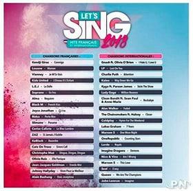 PS4 - Let's Sing 2018 Hits français et internationaux F Box 785300130762 N. figura 1