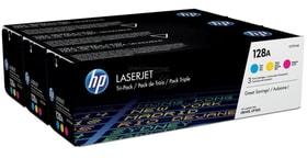 HP Tri-Pack 128A CMY Cartuccia toner HP 798506700000 N. figura 1