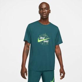 Dri-Fit Miler Wild Run SS Running Top Herren-T-Shirt Nike 470454200563 Grösse L Farbe Dunkelgrün Bild-Nr. 1