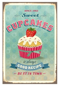 SWEET CUPCAKE Panneau décoratif 431815530515 Dimensions L: 30.0 cm x P: 0.2 cm x H: 45.0 cm Photo no. 1