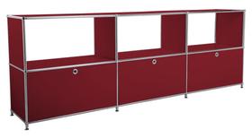 FLEXCUBE Buffet 401814630230 Dimensions L: 227.0 cm x P: 40.0 cm x H: 80.5 cm Couleur Rouge Photo no. 1