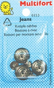 Bottoni Jeans 3 pz