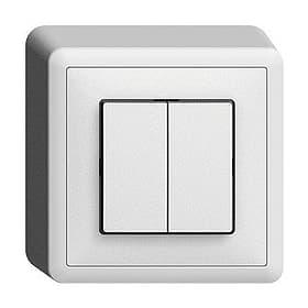 Edizio Due AP S1(3+3) Druckschalter Feller 612143500000 Bild Nr. 1