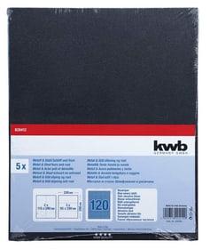 Carta abrasiva per metall GR. 120, 5 pz. kwb 610552700000 N. figura 1