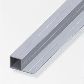 Tubo quadrato 19.5 x 37 mm naturale 1 m alfer 605023400000 N. figura 1