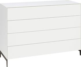 LUX Commode 400825500000 Dimensions L: 120.0 cm x P: 46.0 cm x H: 84.5 cm Couleur Blanc Photo no. 1