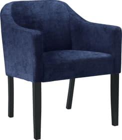LUCAS Chaise 403710730043 Dimensions L: 62.0 cm x P: 63.0 cm x H: 79.0 cm Couleur Bleu marine Photo no. 1