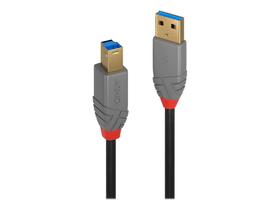 USB 3.0 Typ A an B Kabel, Anthra Line 3m Kabel LINDY 785300141553 Bild Nr. 1
