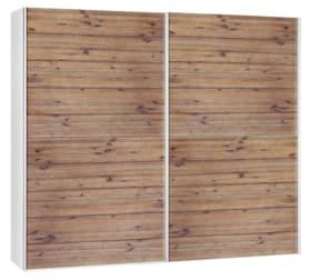 CORELLE Armoire à portes coulissantes 404442500000 Dimensions L: 252.0 cm x P: 67.0 cm x H: 220.0 cm Couleur Acacia lasuré Photo no. 1