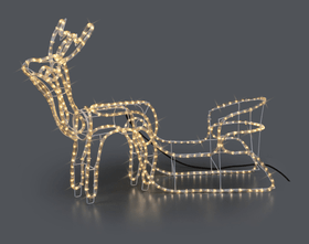 LED Rentier mit Schlitten Leuchtfigur Do it + Garden 613099700000 Bild Nr. 1