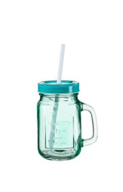 Wasserglas mit Halm FLORI