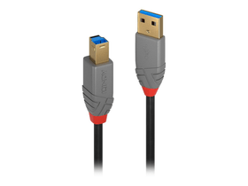 USB 3.0 Typ A an B Kabel, Anthra Line 0.5m Kabel LINDY 785300141552 Bild Nr. 1
