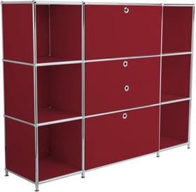 FLEXCUBE Buffet haut 401809400030 Dimensions L: 152.0 cm x P: 40.0 cm x H: 118.0 cm Couleur Rouge Photo no. 1