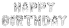 BIRTHDAY Folienballon 440812600000 Farbe Silber Grösse T: 35.0 cm Bild Nr. 1