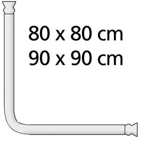 Asta doccia angolare universale extra robusto cromo WENKO 674014700000 Colore Porpora Taglio ø 2.5 cm N. figura 1
