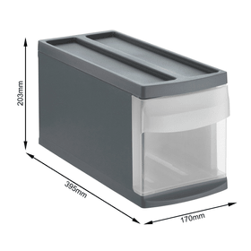 SYSTEMIX S Schubladenbox 1 Schub, Kunststoff (PP) BPA-frei, anthrazit Schubladenbox Rotho 604051900000 Bild Nr. 1