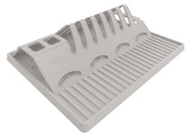 SPACEWONDER Égouttoir à vaisselle pliable, Plastique (PP) sans BPA, gris Cuisine Rotho 604060800000 Photo no. 1