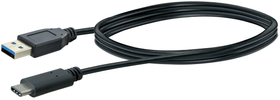 Kabel USB 3.1 1m schwarz USB 3.0 TypA / USB 3.1 TypC 1 m USB-Kabel Schwaiger 613183700000 Bild Nr. 1