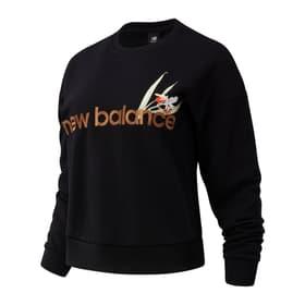 W NB Essentials Botanical Crew Fleece Damen-Pullover New Balance 464293300320 Grösse S Farbe schwarz Bild-Nr. 1