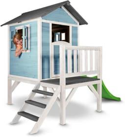 Maisonnette de jeu Lodge XL, bleu/blanc