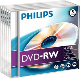 DVD-RW 4.7 Go Data 5-Pack DVD imprimable Philips 787242600000 Photo no. 1
