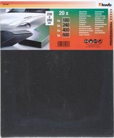 Feuilles de papier abrasif résistantes à l´eau assorties, 20 pcs kwb 610505800000 Photo no. 1