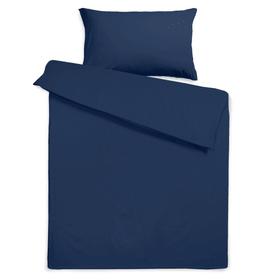 KOS Housse de couette satin 376076712443 Dimensions L: 240.0 cm x L: 160.0 cm Couleur Medieval blue Photo no. 1