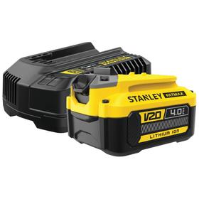 V20 / 18 Li 4.0 Ah set caricabatteria Batteria di ricambio e caricabatteria Stanley Fatmax 616242300000 N. figura 1