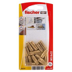 Tassello in ottone PA M6 fischer 605445300000 N. figura 1