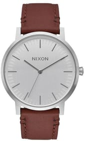 Porter Leather Silver Brown Armbanduhr Nixon 785300137049 Bild Nr. 1