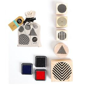 Stamps in a bag, 5pcs, Geometrics I AM CREATIVE 665541400020 Motif GEOMETRICS Photo no. 1