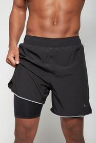 Herren-Shorts 2in1 Laufshorts Perform 470404300520 Grösse L Farbe schwarz Bild-Nr. 1
