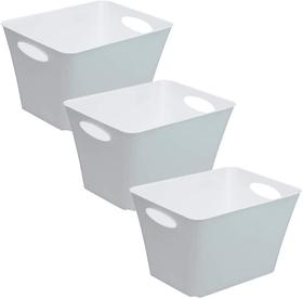 LIVING Box 3er-Set 44l, Kunststoff (PP) BPA-frei, cappuccino Aufbewahrungsbox Rotho 604048400000 Bild Nr. 1