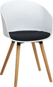 BRERA Chaise 402398500000 Dimensions L: 51.0 cm x P: 51.5 cm x H: 81.0 cm Couleur Noir Photo no. 1