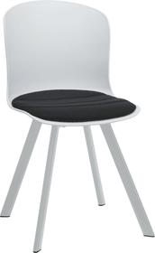 BRERA Chaise 402397900000 Dimensions L: 45.5 cm x P: 54.0 cm x H: 80.5 cm Couleur Noir Photo no. 1
