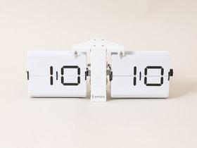 Flip Clock Wanduhr 657766500000 Farbe Weiss Grösse L: 36.0 cm x B: 8.5 cm x H: 13.9 cm Bild Nr. 1