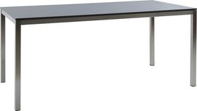 LOCARNO, Gestell Edelstahl, Platte HPL Gartentisch 753193814083 Grösse L: 140.0 cm x B: 80.0 cm x H: 74.0 cm Farbe Dark grey Bild Nr. 1