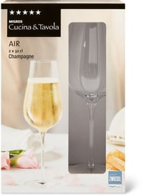 AIR Champagne Cucina & Tavola 701132500001 Dimensions H: 23.3 cm Couleur Transparent Photo no. 1