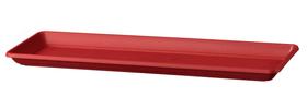 Soucoupe Miramare Deroma 658709400000 Couleur Rouge Taille L: 48.0 cm x L: 18.0 cm x H: 3.2 cm Photo no. 1